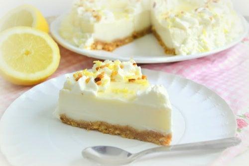 Receta de tarta de limón casera