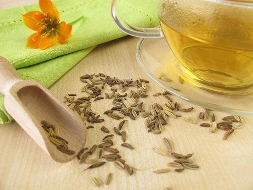 Receta de té de hinojo para desinflamar el vientre
