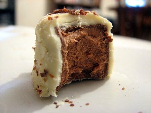 Bocaditos de cheesecake y caramelo
