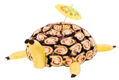 Tarta con forma de tortuga