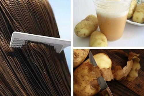 ¿Sabías que el agua de cáscaras de papa te puede ayudar a fortalecer el cabello?