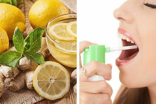 Prepara un espray natural para las molestias de la garganta