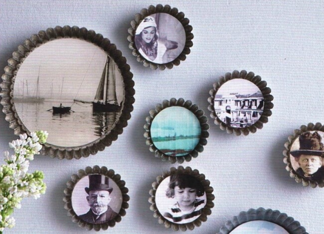 11 ideas para decorar con fotografías familiares