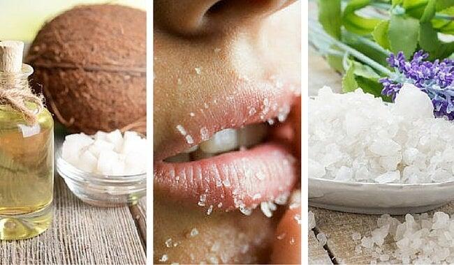 Exfoliante casero de sal y coco para todo el cuerpo