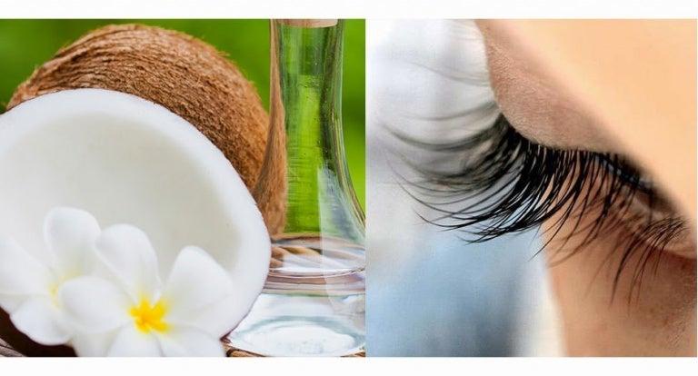 Tratamiento natural con aceite de coco para engrosar las pestañas