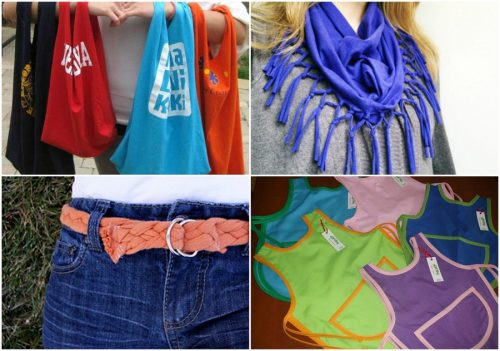 9 formas de reciclar esas viejas camisetas de algodón
