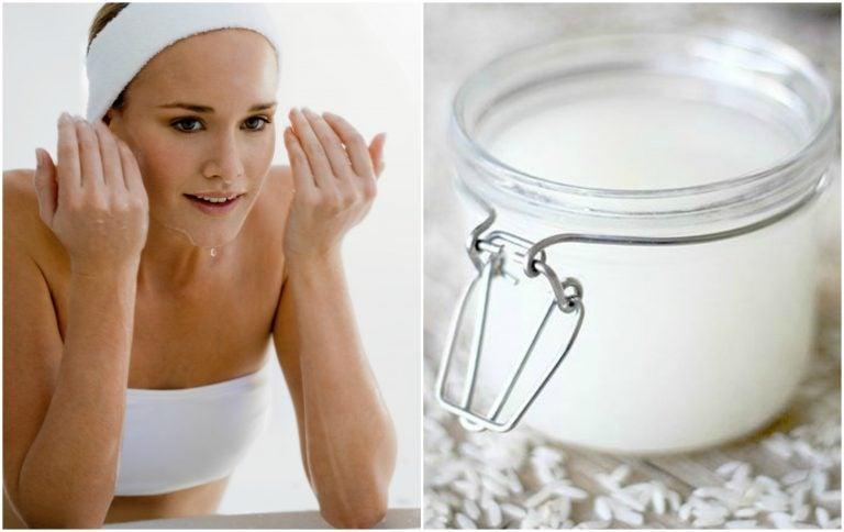 Combate el exceso de grasa de tu piel con una loción de agua de arroz