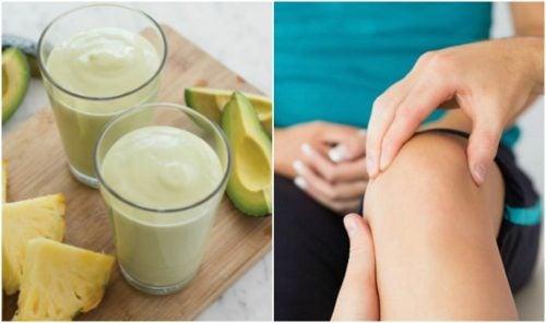 Combate la retención de líquidos con un delicioso batido de aguacate y piña