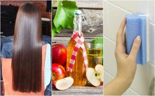 5 curiosos usos del vinagre de manzana que te gustará conocer