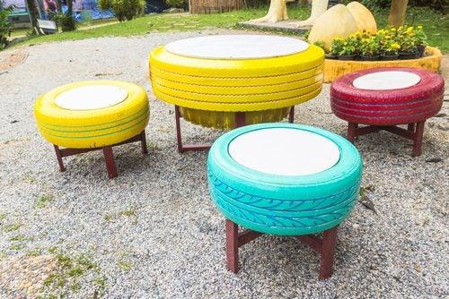 8 formas de utilizar neumáticos viejos