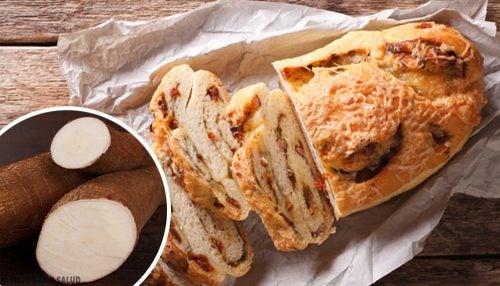 Pan de mandioca, avena y chocolate sin gluten, sin lactosa y sin azúcar