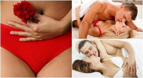 4 posturas para practicar sexo con la regla