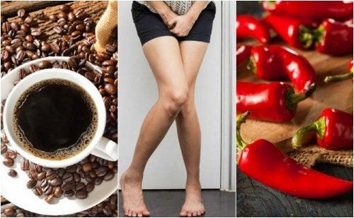 5 alimentos que debes evitar si sufres de vejiga hiperactiva