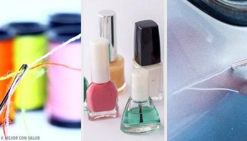 9 usos alternativos del esmalte de uñas