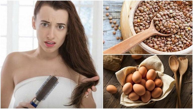 Combate la caída del cabello consumiendo estos 7 alimentos