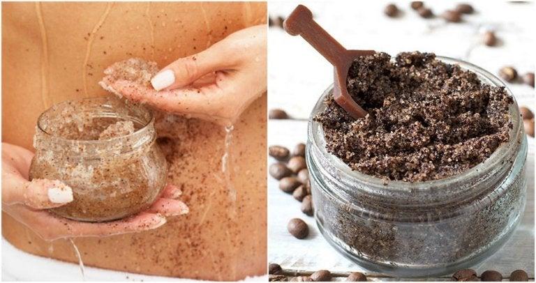 Cómo preparar una crema de café y aceite de coco para atenuar las estrías