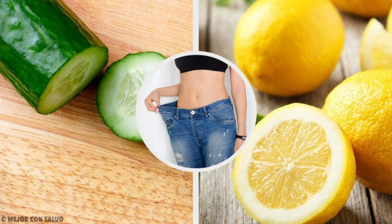 Batido de pepino, limón y menta para adelgazar