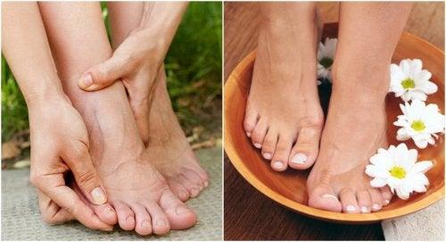Cómo usar agua tibia y sal marina para la hinchazón en los pies