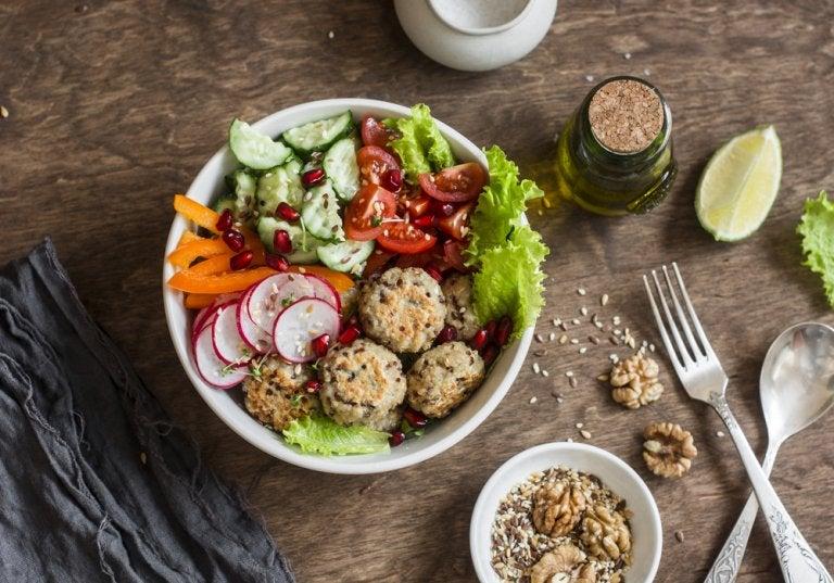 Receta de albóndigas de quinoa y garbanzo