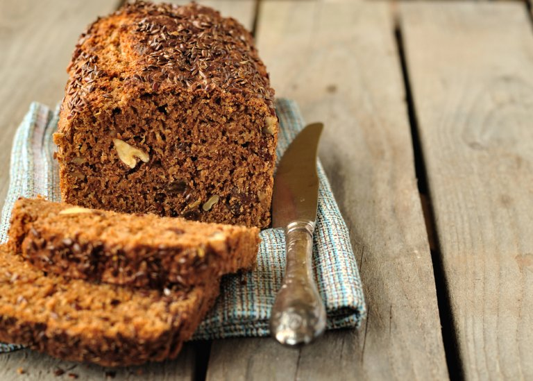 Pudín de pan integral saludable y con pocos ingredientes