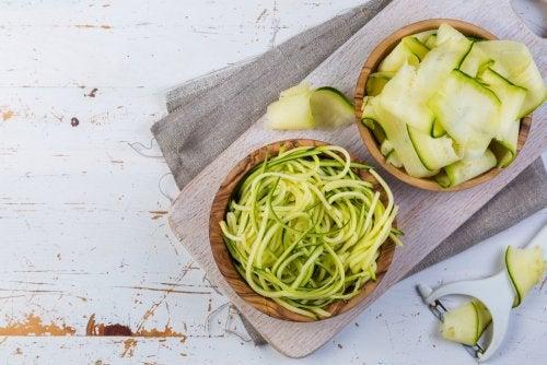 Exquisita pasta de verduras muy fácil de preparar