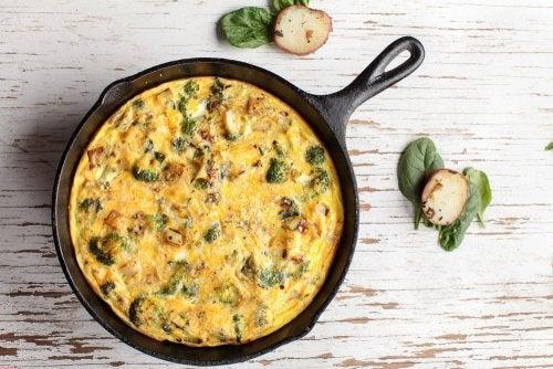 Tortilla de brócoli: receta saludable y fácil