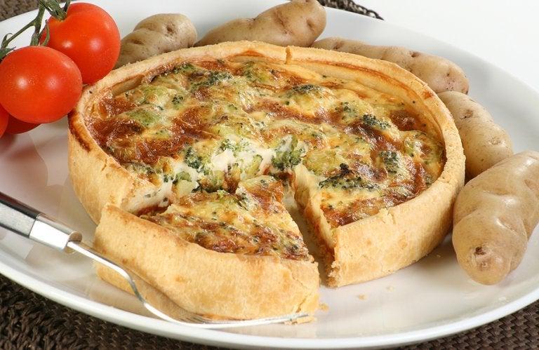 Prepara esta exquisita quiche de verduras y queso tierno