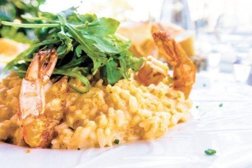 Receta de arroz meloso con langostinos