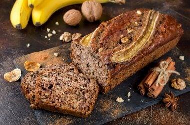 Exquisita torta de plátano, miel y canela, no te quedes sin probarla