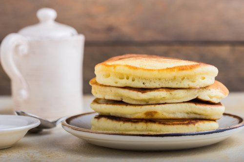 Hot cakes de banana sin gluten con dos ingredientes