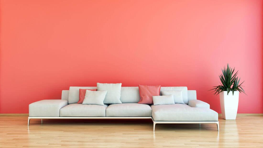Salón color coral: tendencias de colores