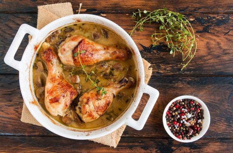 2 deliciosas recetas de pollo con champiñones