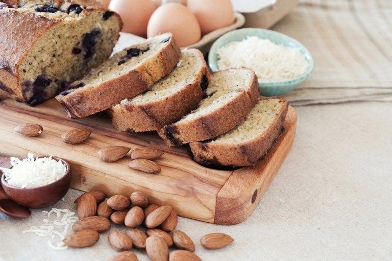 Cómo hacer un delicioso pan de coco y almendras