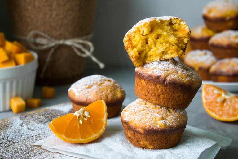 2 recetas de magdalenas con naranja muy esponjosas