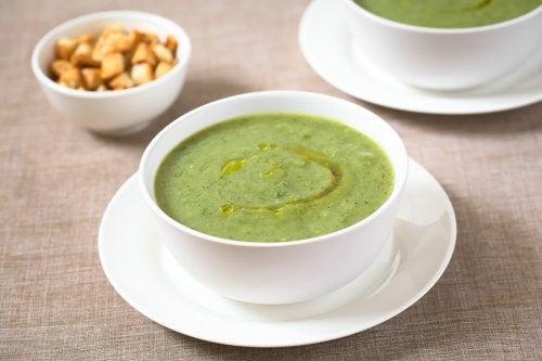 Sopa de calabacín y ajo para el sistema inmunitario