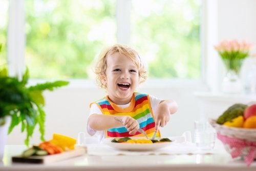 Alimentos saludables para dietas de niños de 1 a 3 años